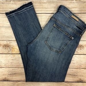 ANTHRO Pilcro Hyphen 30 Fray Relaxed Jeans